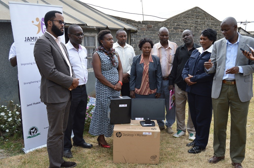 Donating Computers at Kaptembwa Police Station