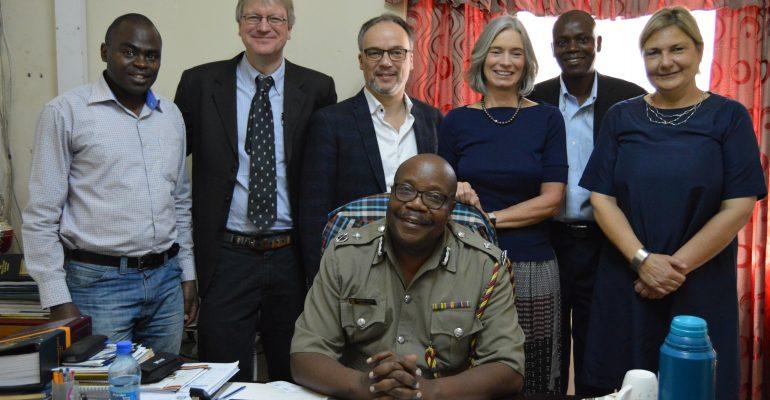 Walter Mwania, Finn Kjaerulf, Peter Kragelund, Karin Verland, Joseph Omondi, Louise Holck & Nakuru County Police Commander Mr. Hassan Barua