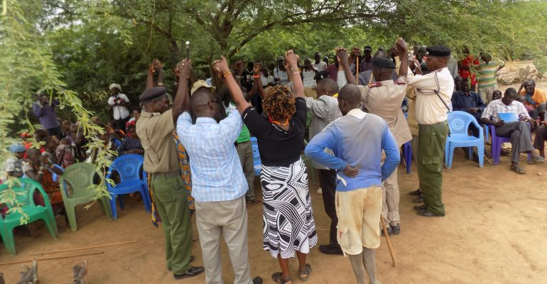 Peace meeting in Mukutani, Baringo