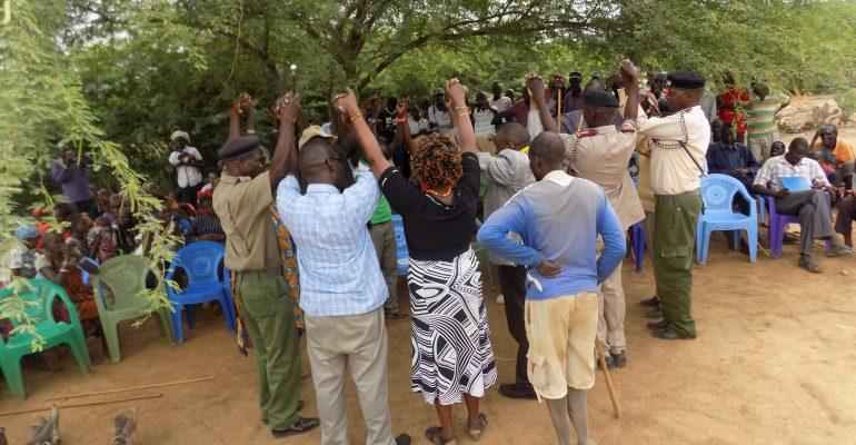 Peace meeting in Mukutani, Baringo