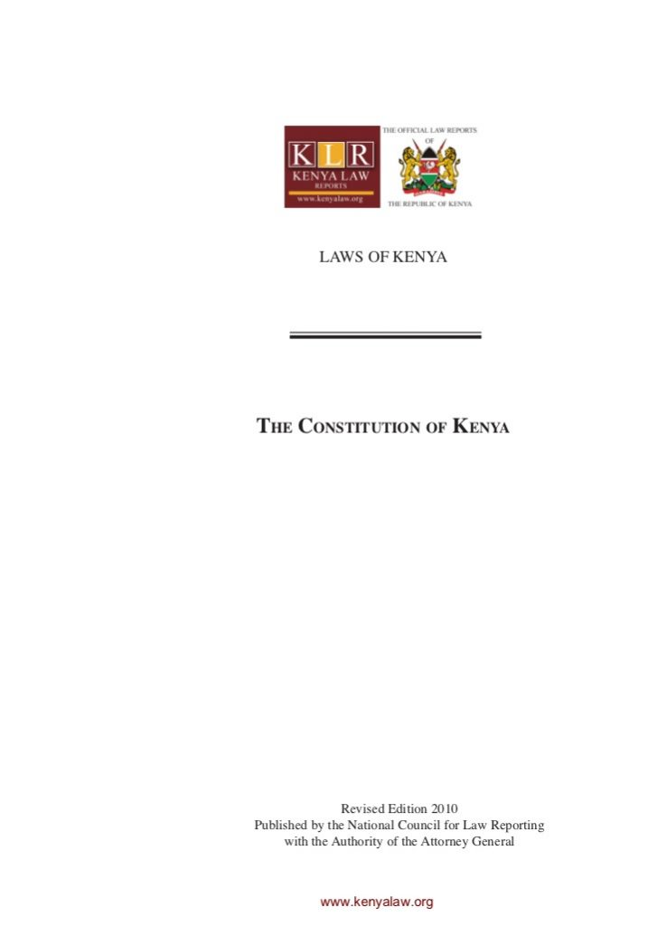The Kenyan Constitution