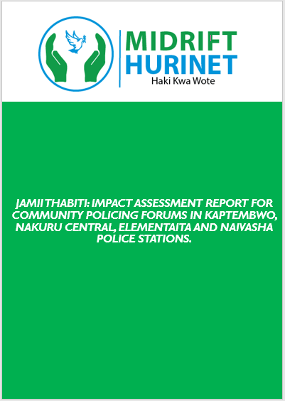 IMPACT ASSESSMENT REPORT FOR COMMUNITY POLICING