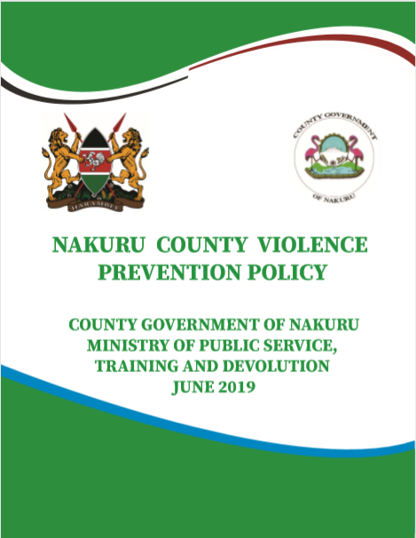 Nakuru County Violence Prevention Policy
